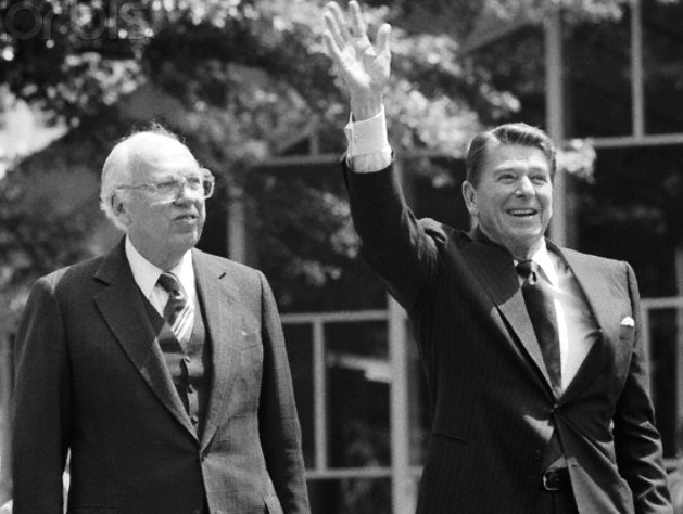 President Ronald Reagan with CIA Director William J. Casey